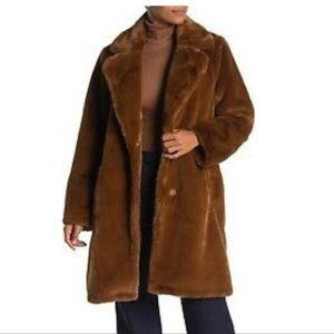 Michael Kors Cognac Faux Fur Coat